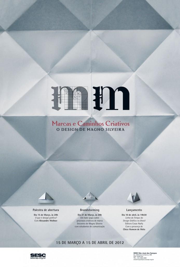 Cartaz da exposição Marcas e Caminhos Criativos