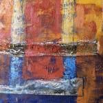 Magno Silveira. Encáustica sobre madeira. 1,30m x 1,30m. 2012
